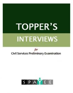 UPSC Toppers Interviews